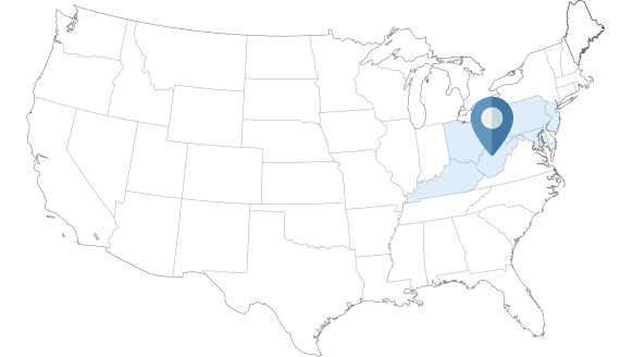 NE Region Services Washington Map